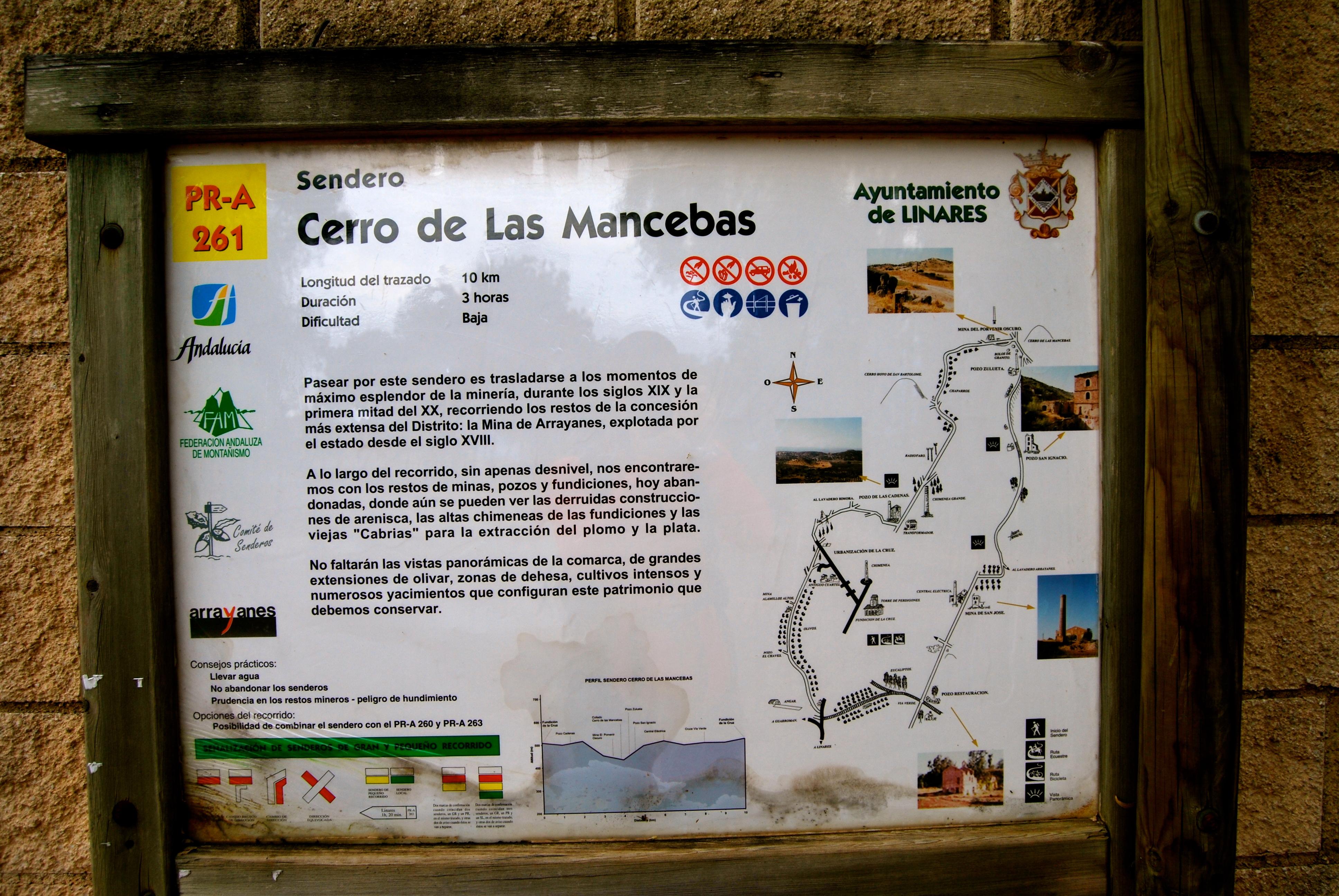 Sendero del Cerro de Las Mancebas. Rutas Mineras de Linares – PR-A 261
