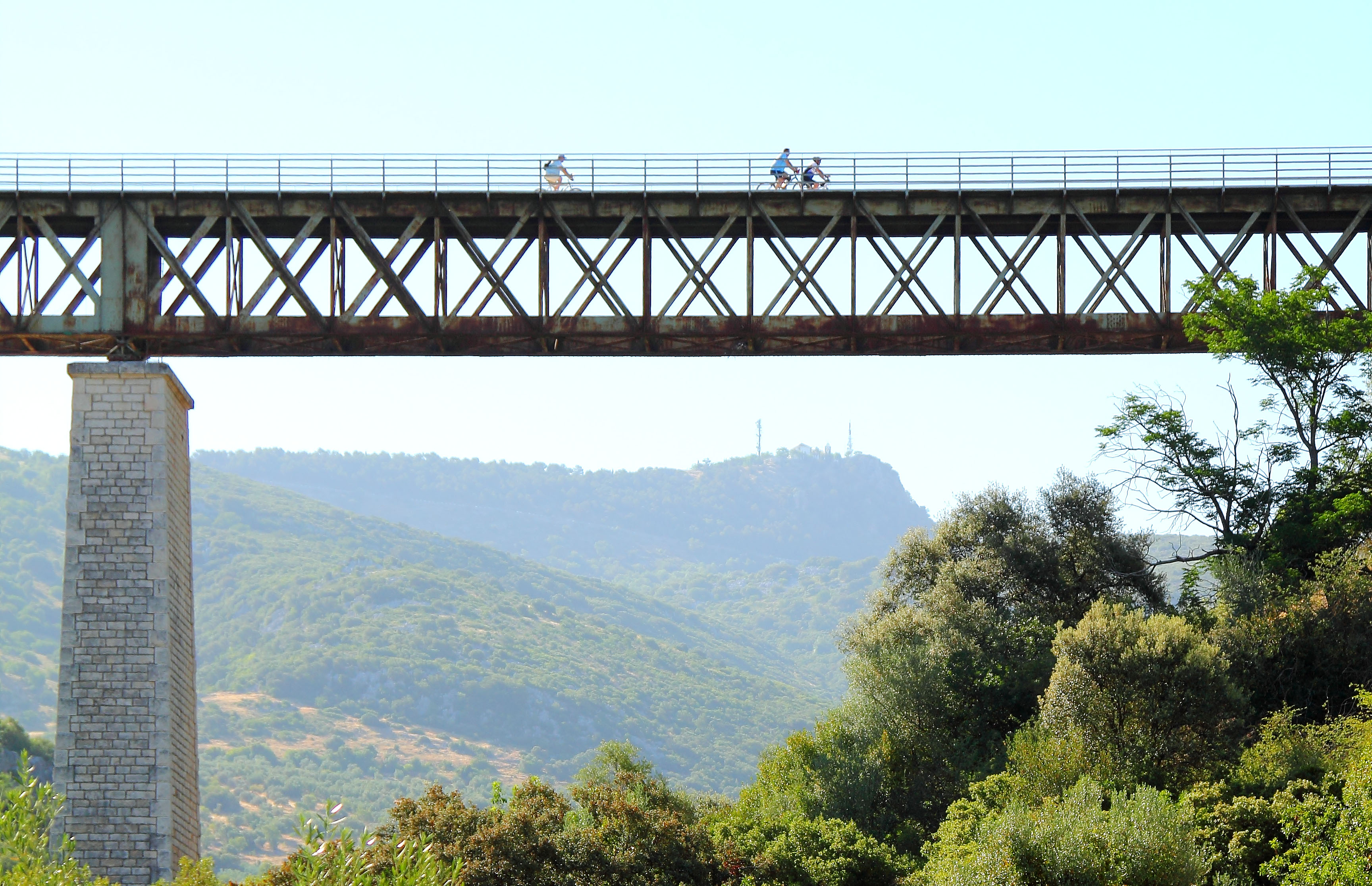 Bicycles travels the longest Greenway Andalusia