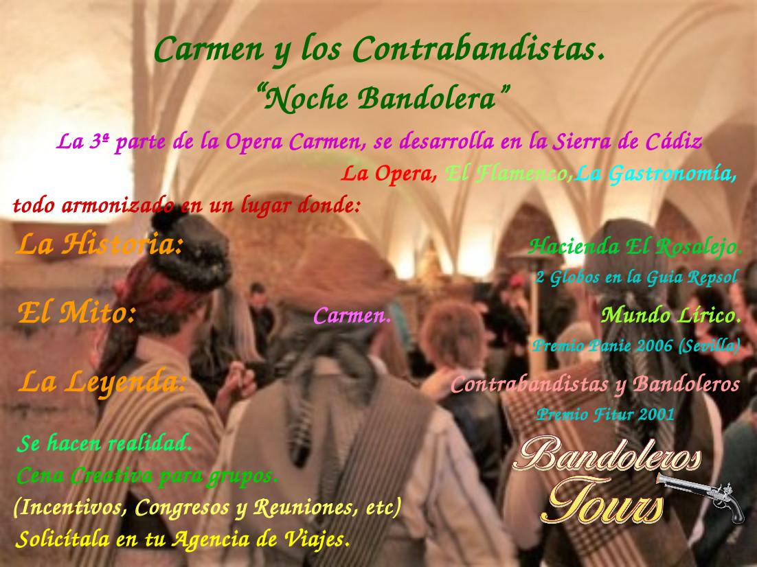 Hamelin: Carmen y los Contrabandistas Noche Bandolera Gran Lujo - Actividad  (Villamartin)