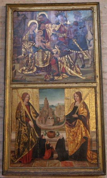 Real Parroquia de Señora Santa Ana - Díptico Adoración de los Reyes y Santas Rufina y Justa (1540)