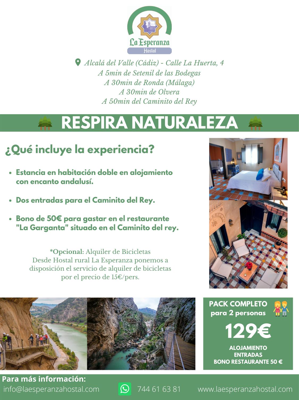 Respira Naturaleza en Hostal Rural La Esperanza