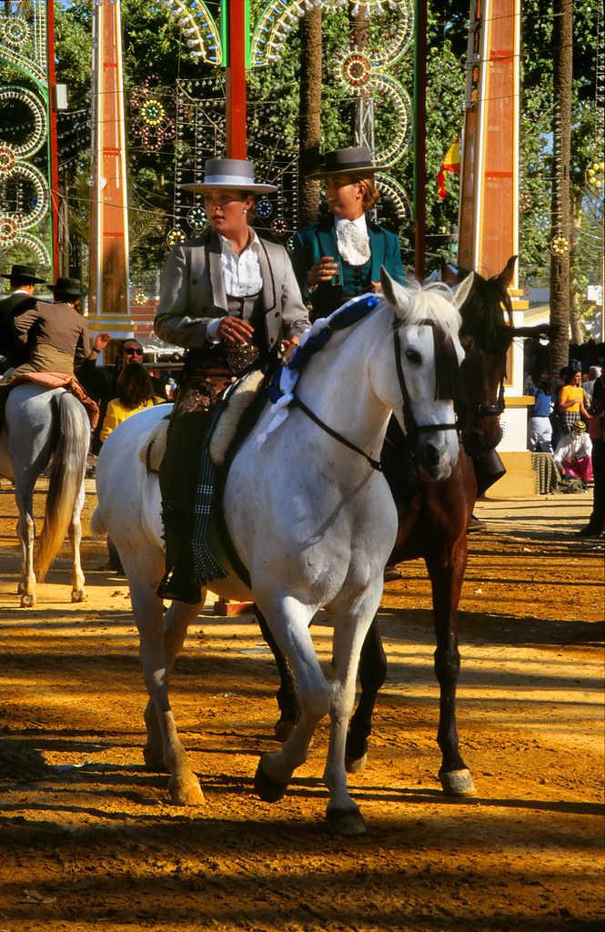 Pures Spanish horses in the Jerez Fair