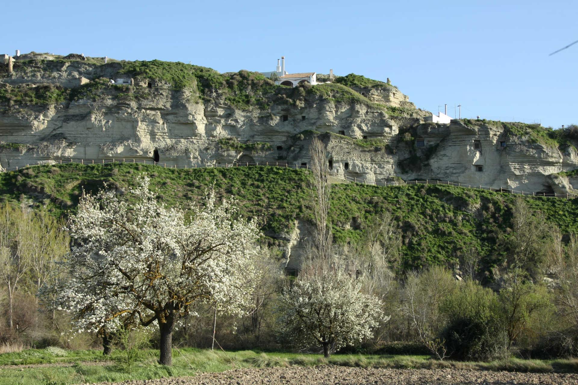 Hafas de la Moralea y Barrio Troglodita de Alhanda