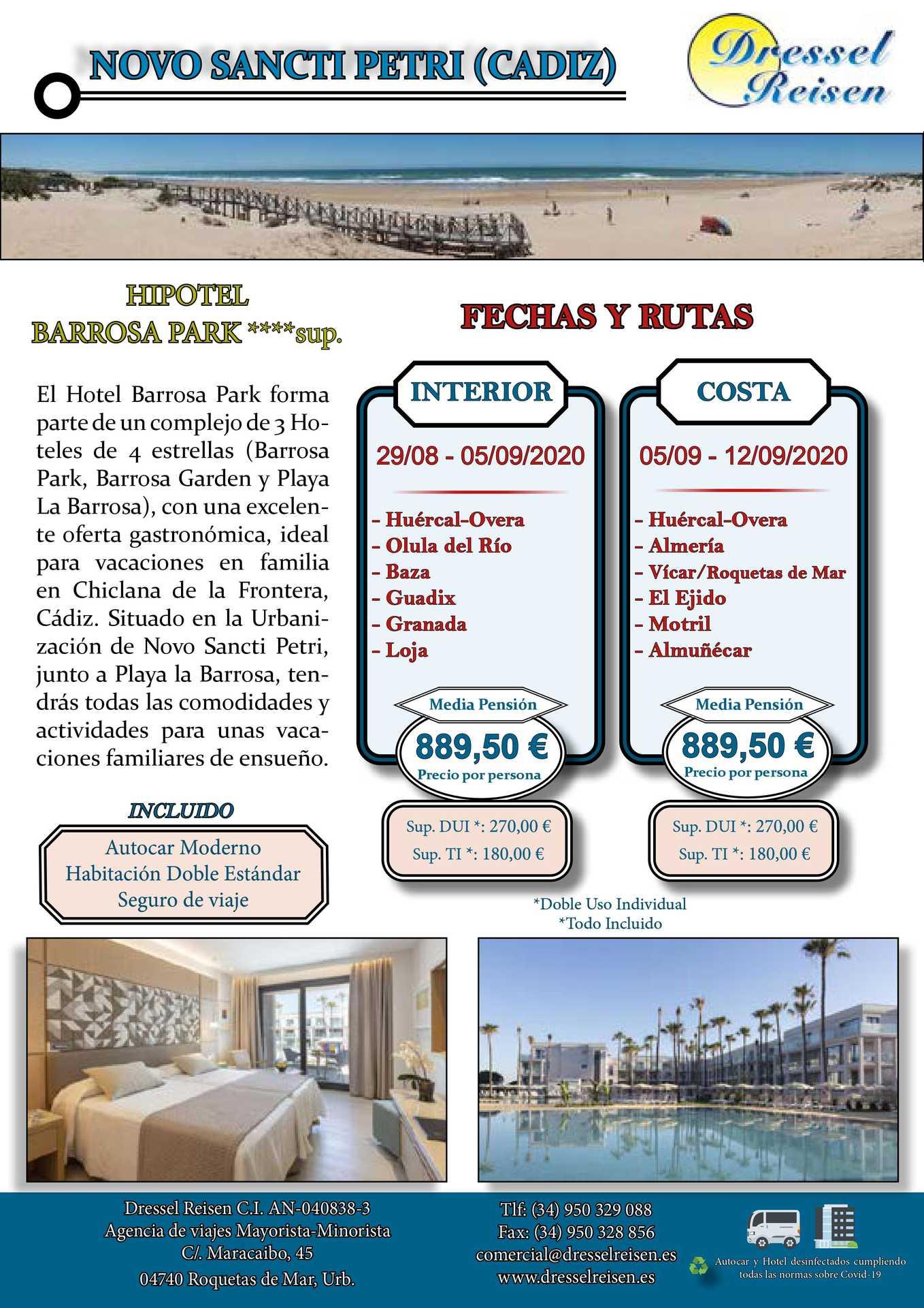 Viaje a La Barrosa (Novo Sancti Petri - Cádiz)