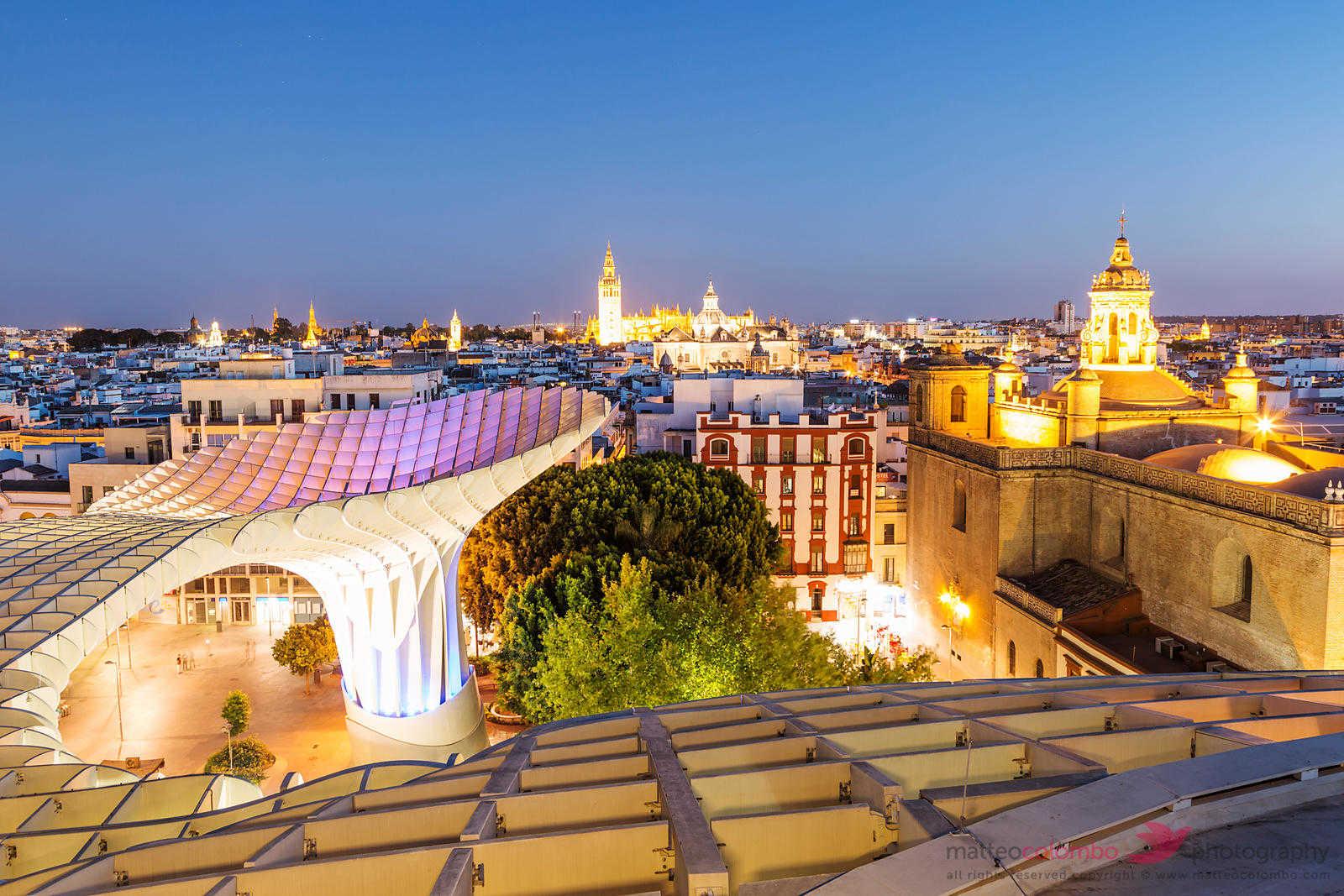 Regal Seville at dusk