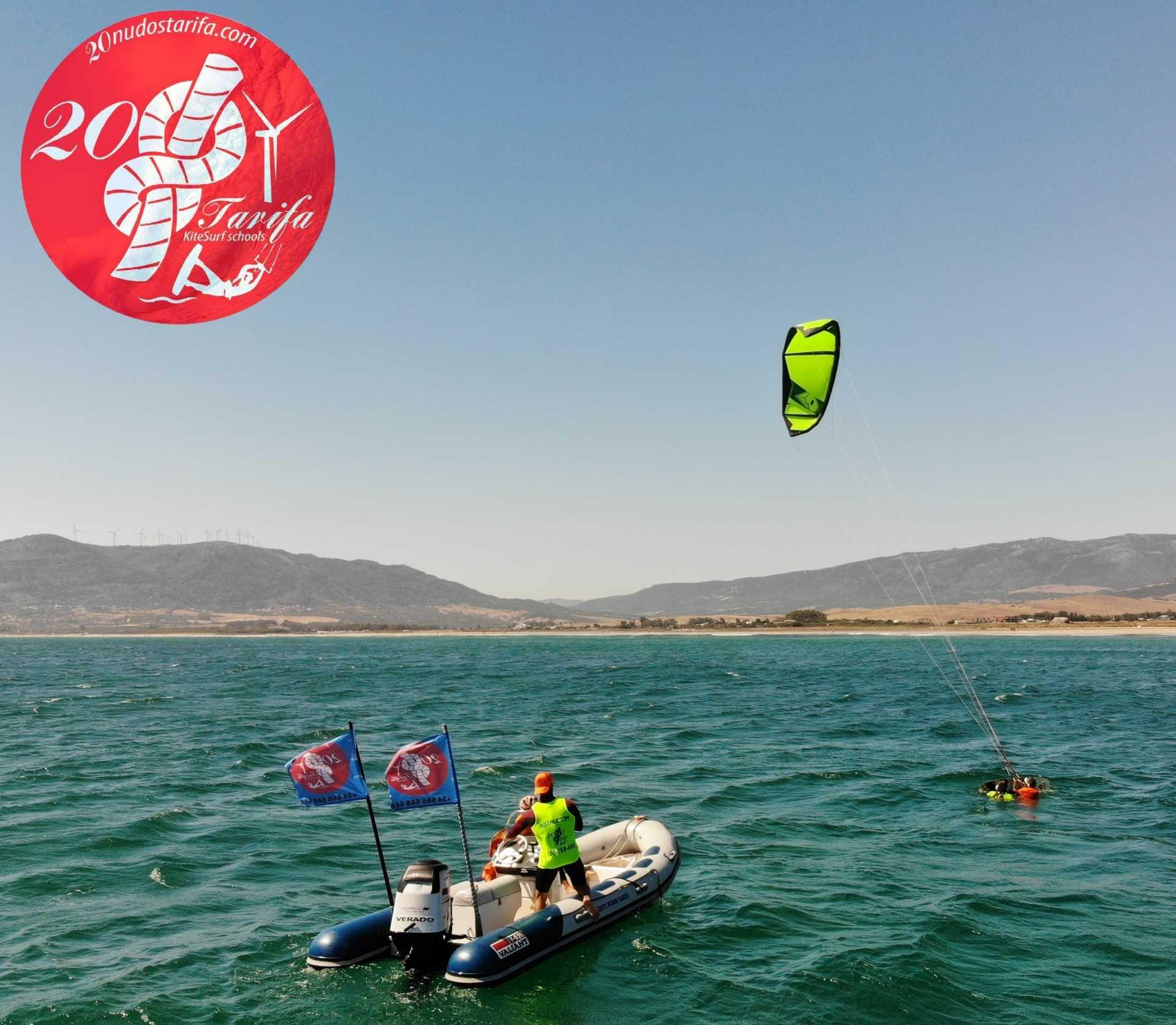 Cursos de kitesurf en Barco