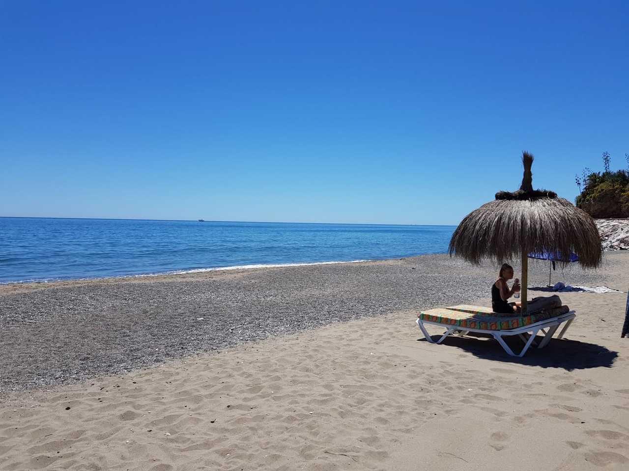 Playa del Bajondillo en el Morro de Torremolinos