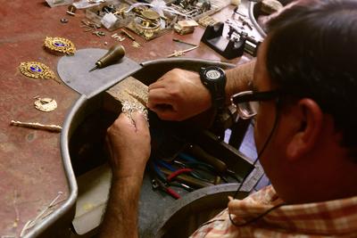 Handwerksmeister, ein Erbe und Handarbeit, Schätze Andalusiens