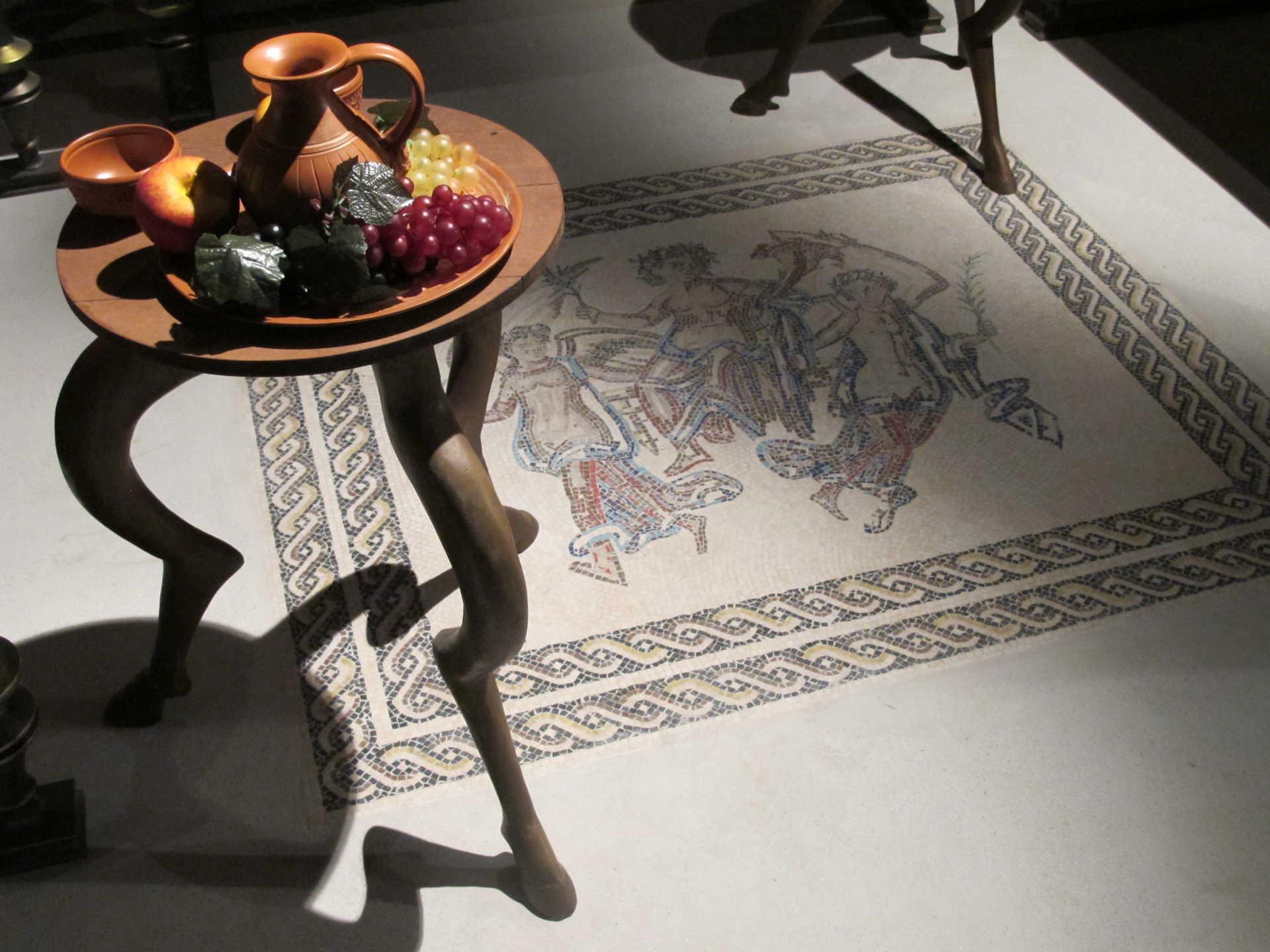 Casa romana: Detalle de mosaico