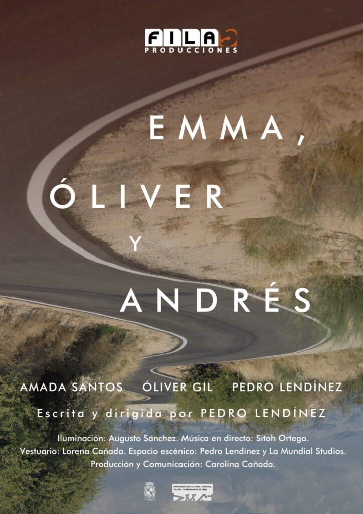 Emma, Oliver y Andrés en el Teatro Infanta Leonor