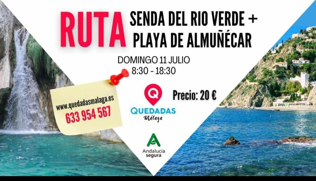 Ruta senda del Río Verde + Playa de Almuñ´écar