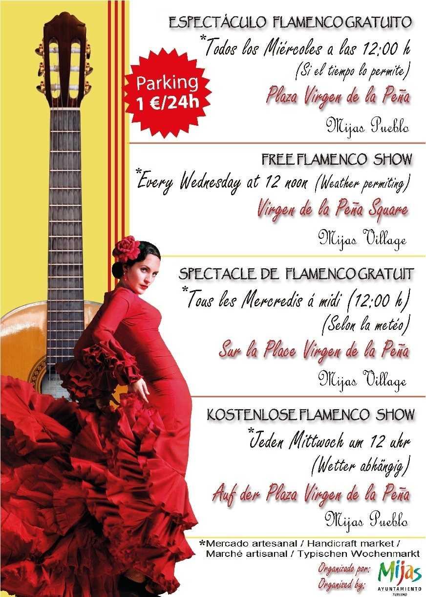 Espectáculo de Flamenco en Mijas y Mercado Artesanal