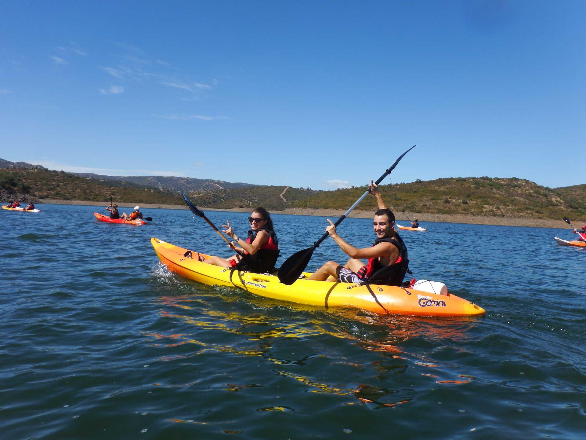 Kayaks en el Rumblar (Jaén)