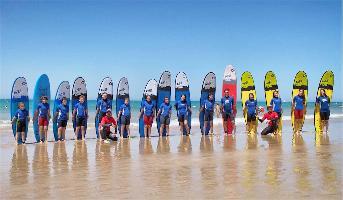 5 días clases de surf La Barrosa Chiclana