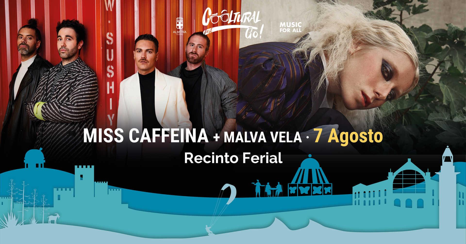 Miss Caffeina y Malva Vela en concierto