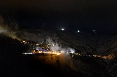 Night time in Sierra Nevada, star gazing and night skiing!