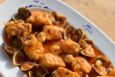 Seafood cuisine and typical dishes from the Huelva coast