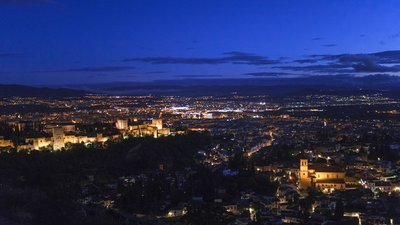 The most beautiful city, even in the dark